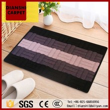 Bathroom Washable Rugs Polyester Carpet Tile For Hotel Room