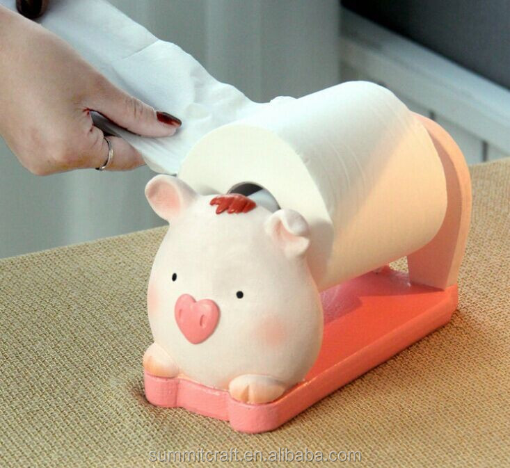 Resin piggy funny animal toilet paper holder design buy tissue paper holder funny toilet paper Funny toilet paper holders