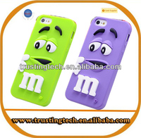 Hot selling Soft 3D colorful M&M Fragrance Chocolate Case For iphone 5S 5 5G silicone back cover for iphone