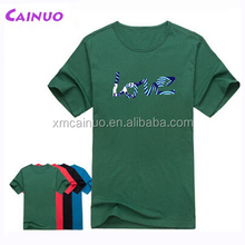 Many colors 70% polyester 30% cotton t-shirt Customizing
