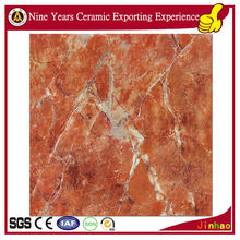 Glazed porcelain 800x800 spanish orange red tile