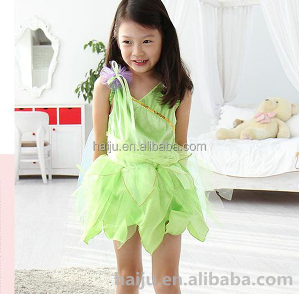 Wholesale Peter Pan green nature short fancy dress costumes for kids