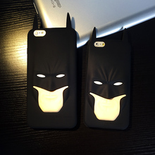 Fashion 3D Cartoon Anime Superhero Batman Silicone Rubber Back Cover Case For iphone 7