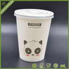 Disposable Single Wall Paper Cups Candy Beverage Cupcake Cups Cold Drink 9OZ Paper Cups with Lids and Straws