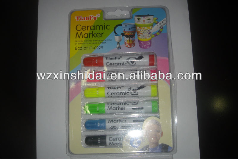 Ceramic cup correct waterproof marker pen