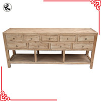 Chinese Natural Wood Kitchen Nine Drawer Table Set Old Soild Wood Unit For Kitchen Table Antique Furniture Stores