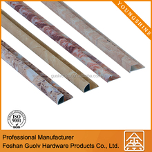 Easy to install aluminum quarter round tile for floor tile edge