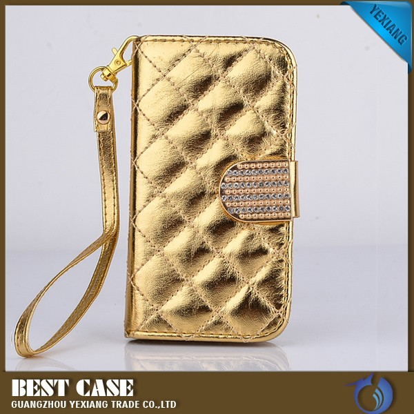 diamond stone leather case for apple iphone 4 luxury phone cover