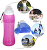 Kean Soft high quality collapsible silicone water travel bottle