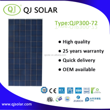 High efficiency solar panel of polycrystalline PV solar panel price 300W