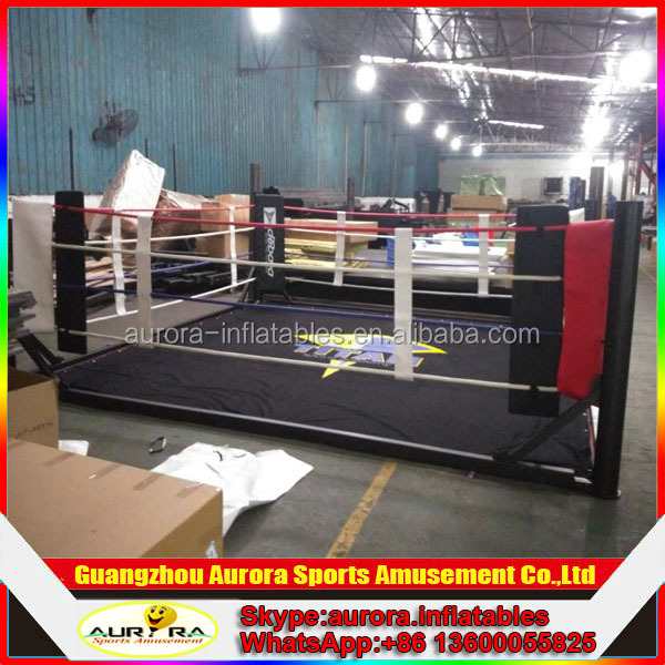 2016 best selling floor boxing ring with customized size and logo