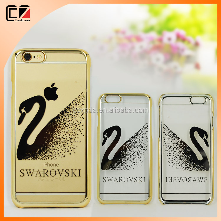 2015 PC Electroplate Crystal Case Cover for iphone 6S and 6S plus