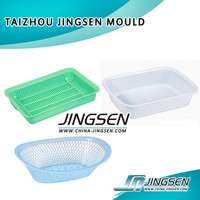 high quality household products plastic injection washing basket mould steel mold factory