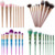 2018 unique design 9pcs bamboo joint bling make up brushes private label maquiagem