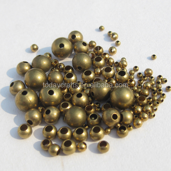 2017 hot sale fashion round Brass beads accessories for jewelry making