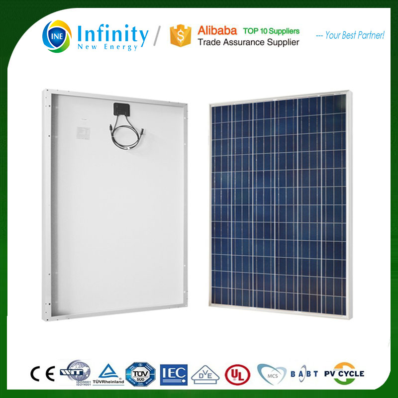 China Polycrystalline Silicon Material High Quality PV Solar Panel Ce 250w 260w sunpower stock solar panel