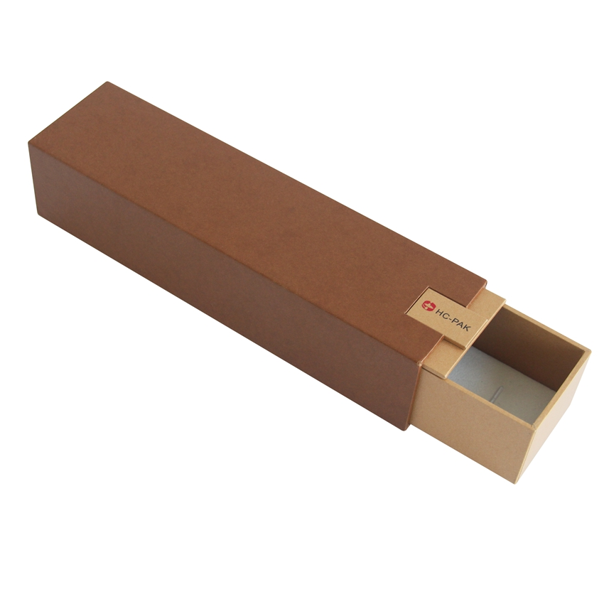 brown color slide open jewelry necklace packaging box