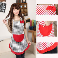 New Cute BowKnot Women Lady Kitchen Restaurant Bib Cooking Aprons