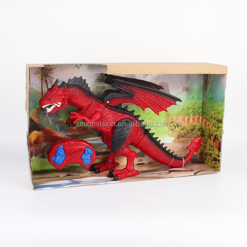 Infra-red Control Plastic Walking Dragon Dinosaur Planet with Light and Sound
