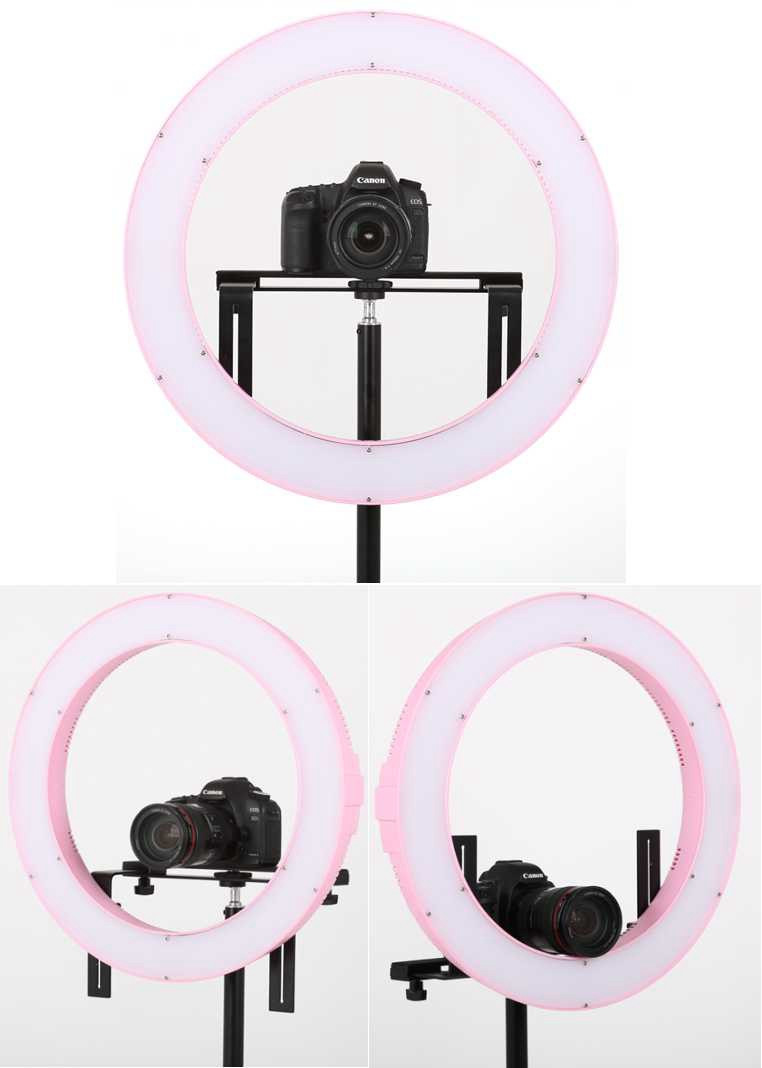 Ring Light LED Photography Camera Video Studio Lighting 3000-5600K Dimmable Subsection Control