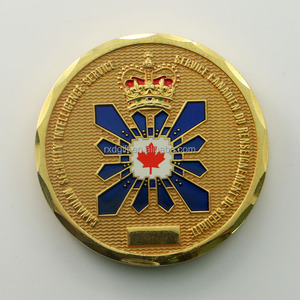 Factory hot sale 3D color Canada challenge coins