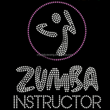 ZUMBA SYMBOL hotfix rhinestone transfer iron on for garment