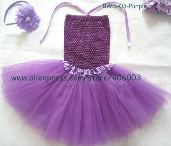Stock wholesale 3layer purple tutu skirt for kids