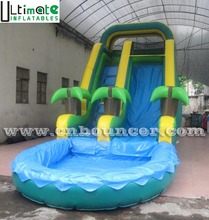 Kids N adults outdoor gaint inflatable water slide with big pool for sale from guangzhou inflatable