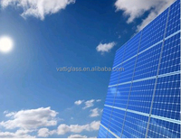 Top quality solar glass, strong absorb sunlight 3.2mm Tempered Solar Glass Panel Toughened Solar Glass