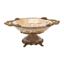 NEW ITEM Luxury European Bronze & Porcelain Home Decoration Fruit Plate