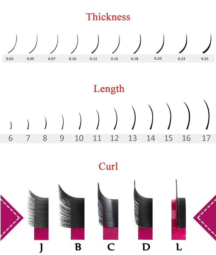 Air Flat Double Tips Blink Flat Lashes, Customize Personal Packaging Ellipse Flat Lashes, Easy-Lifting Soft Flat Eyelashes