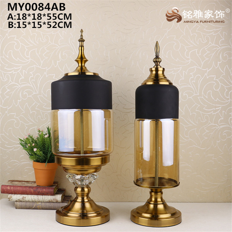 New ornament glass stand for wholesale office decoration