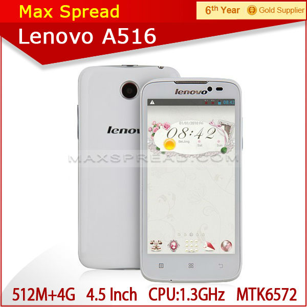 Original Lenovo A516 MT6572 4GB Android 4.2.2 4.5 Inch IPS Dual Core lenovo a516 smart phone