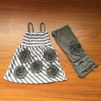 High Quality Grey Knitted Cotton Pant Outfit Set New Feeling Clothing For Toddler Wear