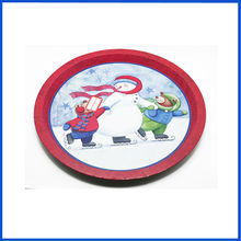 Big size customized design round serving tray
