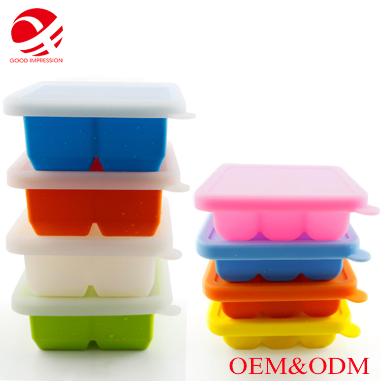 Colorful food grade Premium Ice Cube Tray