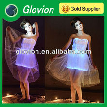 High quality Glowing gleaming clothing Optronic luminescent dresses RGB LED light starry shining glitter princess dress