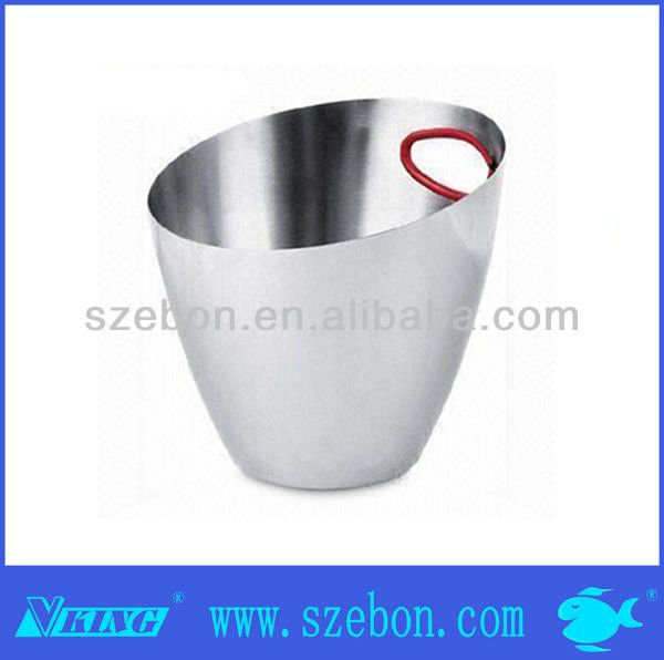 Oval stainless steel led champagne bucket for bottle
