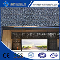 Welded gabion retaining wall / Road mesh installation / gabion landscaping walls good products