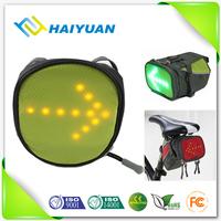 Safety popular products 2016 new invention LED light bike saddle bag