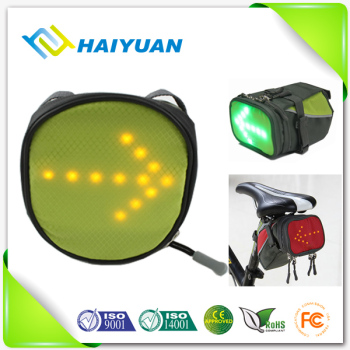 Safety popular products 2016 new invention LED light bike saddle bag
