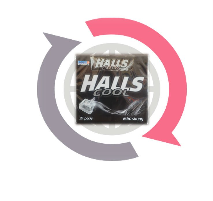 Halls Candy extra strong