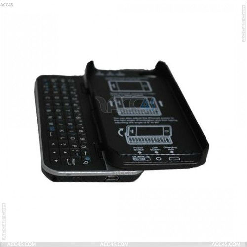 2013 new Standing & Sliding Bluetooth Keyboard Case for iPhone 5 P-IPH5BLUEKB0013