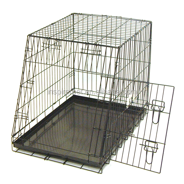 Metal Dog Cage Slant-Front Hatchback Pet Car Cage