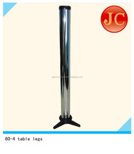 chrome table leg with trianglar alloy plate JC60-4