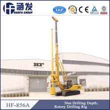Construction foundation!56m Depth! HF856A crawler type piling rig with friction drill pipe