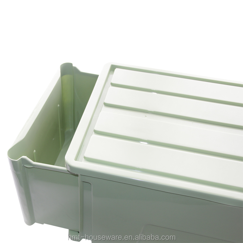 2016 new arrival cheap plastic stackable narrow storage drawer