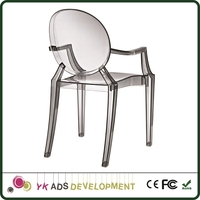 Acrylic chair High Wear-resistance is non toxic made to ROHS