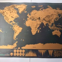 Wholesale 2017 Newest Scratch Off Map