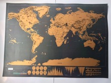 Wholesale 2017 newest scratch off map 1pcs 82.5 x 59.5 mini deluxe scratch world map poster